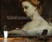 A Woman with Jewellery, 1867 (oil on canvas) wall mural kitchen preview