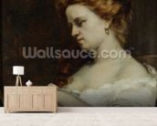 A Woman with Jewellery, 1867 (oil on canvas) wall mural living room preview
