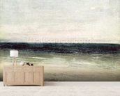 The Artist on the Seashore at Palavas (oil on canvas) mural wallpaper living room preview