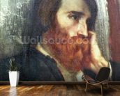 Portrait of Alfred Bruyas (oil on canvas) wall mural kitchen preview