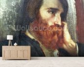 Portrait of Alfred Bruyas (oil on canvas) wall mural living room preview