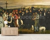 Burial at Ornans, 1849-50 (oil on canvas) wall mural living room preview