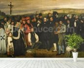 Burial at Ornans, 1849-50 (oil on canvas) wall mural in-room view