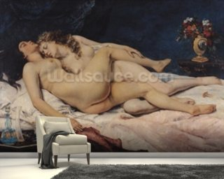 Le Sommeil, 1866 (oil on canvas) wall mural
