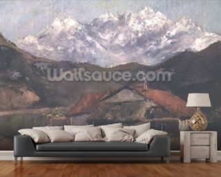 A Hut in the Mountains wall mural