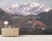 A Hut in the Mountains wall mural living room preview