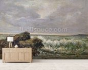 The Wave, 1869 (oil on canvas) wallpaper mural living room preview