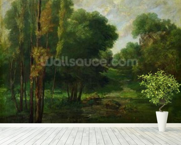 Forest Landscape, 1864 (oil on canvas) wall mural room setting