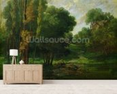 Forest Landscape, 1864 (oil on canvas) wall mural living room preview