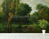 Forest Landscape, 1864 (oil on canvas) wall mural in-room view