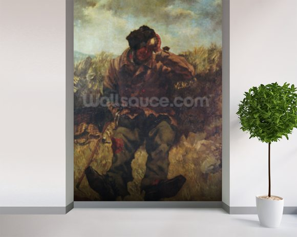 The Vagabond (oil on canvas) wallpaper mural room setting