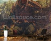 The Vagabond (oil on canvas) wallpaper mural kitchen preview