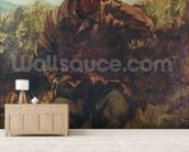 The Vagabond (oil on canvas) wallpaper mural living room preview