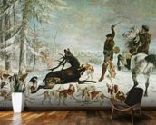 The Death of the Deer, 1867 (oil on canvas) wall mural kitchen preview