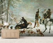 The Death of the Deer, 1867 (oil on canvas) wall mural living room preview