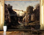 The Source of the Doubs, 1871 (oil on canvas) mural wallpaper kitchen preview