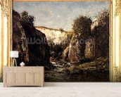 The Source of the Doubs, 1871 (oil on canvas) mural wallpaper living room preview