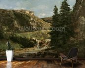 Landscape near Ornans, c.1858 (oil on canvas) wall mural kitchen preview