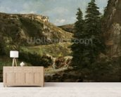 Landscape near Ornans, c.1858 (oil on canvas) wall mural living room preview