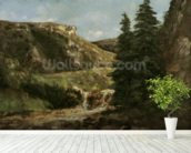 Landscape near Ornans, c.1858 (oil on canvas) wall mural in-room view