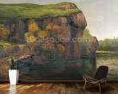 Rocky Cliffs (oil on canvas) wallpaper mural kitchen preview