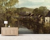 The Reflection of Ornans, c.1872 (oil on canvas) mural wallpaper living room preview