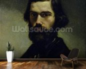 Portrait of Jules Valles (1832-85) c.1861 (oil on canvas) wall mural kitchen preview