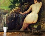 The Source or Bather at the Source, 1868 wallpaper mural kitchen preview