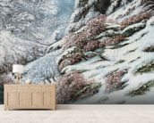 Deer in a Snowy Landscape, 1867 wall mural living room preview