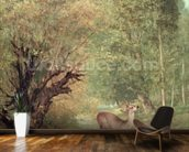 The Hunted Roe-Deer on the alert, Spring, 1867 wallpaper mural kitchen preview