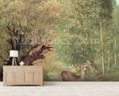The Hunted Roe-Deer on the alert, Spring, 1867 wallpaper mural living room preview