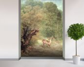 The Hunted Roe-Deer on the alert, Spring, 1867 wallpaper mural in-room view