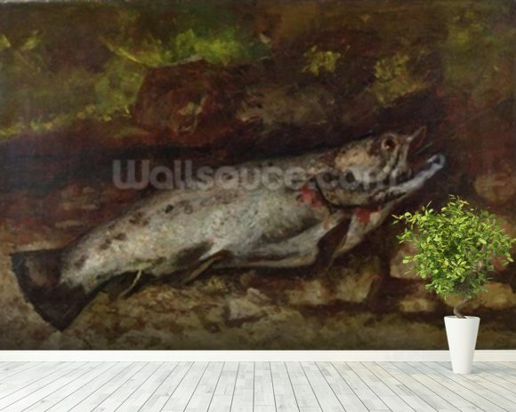 The Trout, 1873 (oil on canvas) wall mural room setting