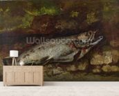 The Trout, 1873 (oil on canvas) wall mural living room preview