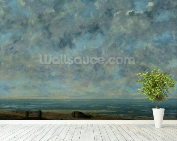 The Sea, c.1872 (oil on canvas) mural wallpaper room setting
