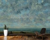 The Sea, c.1872 (oil on canvas) mural wallpaper kitchen preview