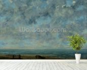 The Sea, c.1872 (oil on canvas) mural wallpaper in-room view