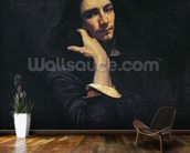 The Man with the Leather Belt. Portrait of the Artist, c.1846 (oil on canvas) wall mural kitchen preview