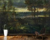 Evening Landscape (oil on canvas) wallpaper mural kitchen preview