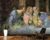The Last Supper, 1495-97 (fresco) (post restoration) wallpaper mural kitchen preview