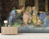 The Last Supper, 1495-97 (fresco) (post restoration) wallpaper mural living room preview