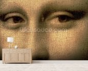 Mona Lisa, c.1503-6 (oil on panel) (detail of 3179) mural wallpaper living room preview