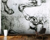 Studies of Horses legs (pen and ink on paper) mural wallpaper kitchen preview