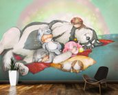 A Nap mural wallpaper kitchen preview