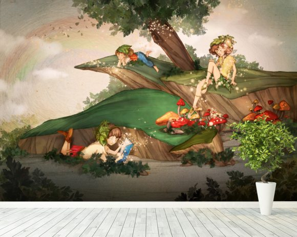 Day Dreaming wall mural room setting
