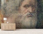 The Last Supper, 1495-97 (fresco) (post restoration) (detail of 161739) wallpaper mural living room preview