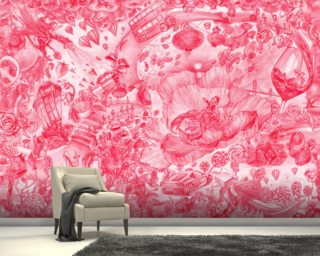 Red Wallpaper Mural Wallpaper Wall Murals