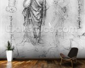 Studies (pen and ink on paper) mural wallpaper kitchen preview
