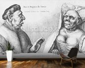 Rex et Regina de Tunis (chalk on paper) wallpaper mural kitchen preview