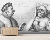 Rex et Regina de Tunis (chalk on paper) wallpaper mural living room preview